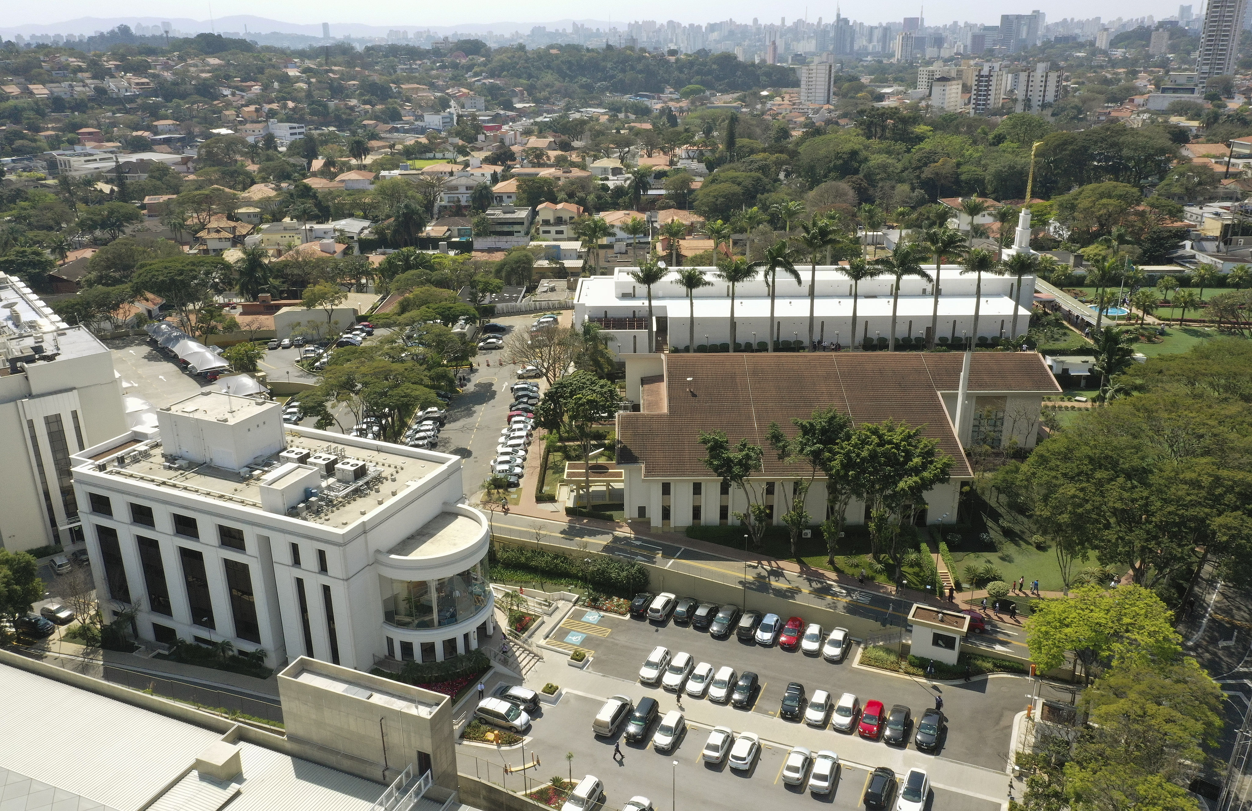 The Sao Paulo Brazil Temple and Visitors' Center in Sao Paulo, Brazil, on Aug. 31, 2019.