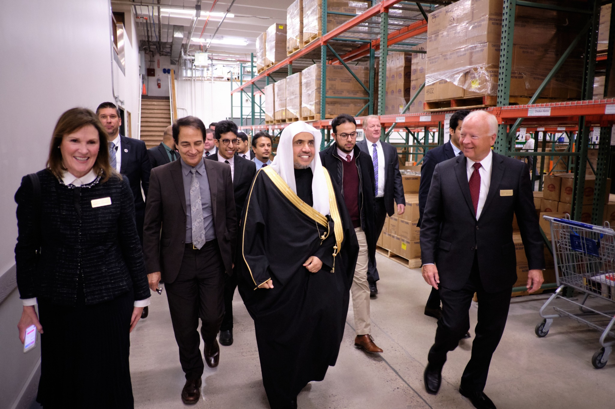 His Excellency Dr. Mohammad Al-Issa, secretary-general of the Muslim World League, tours the Bishops' Central Storehouse in Salt Lake City on Nov. 5, 2019.
