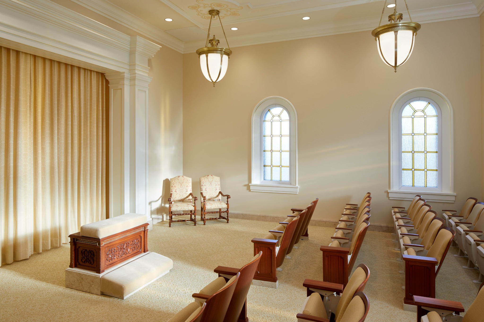 An instruction room in the Arequipa Peru Temple.