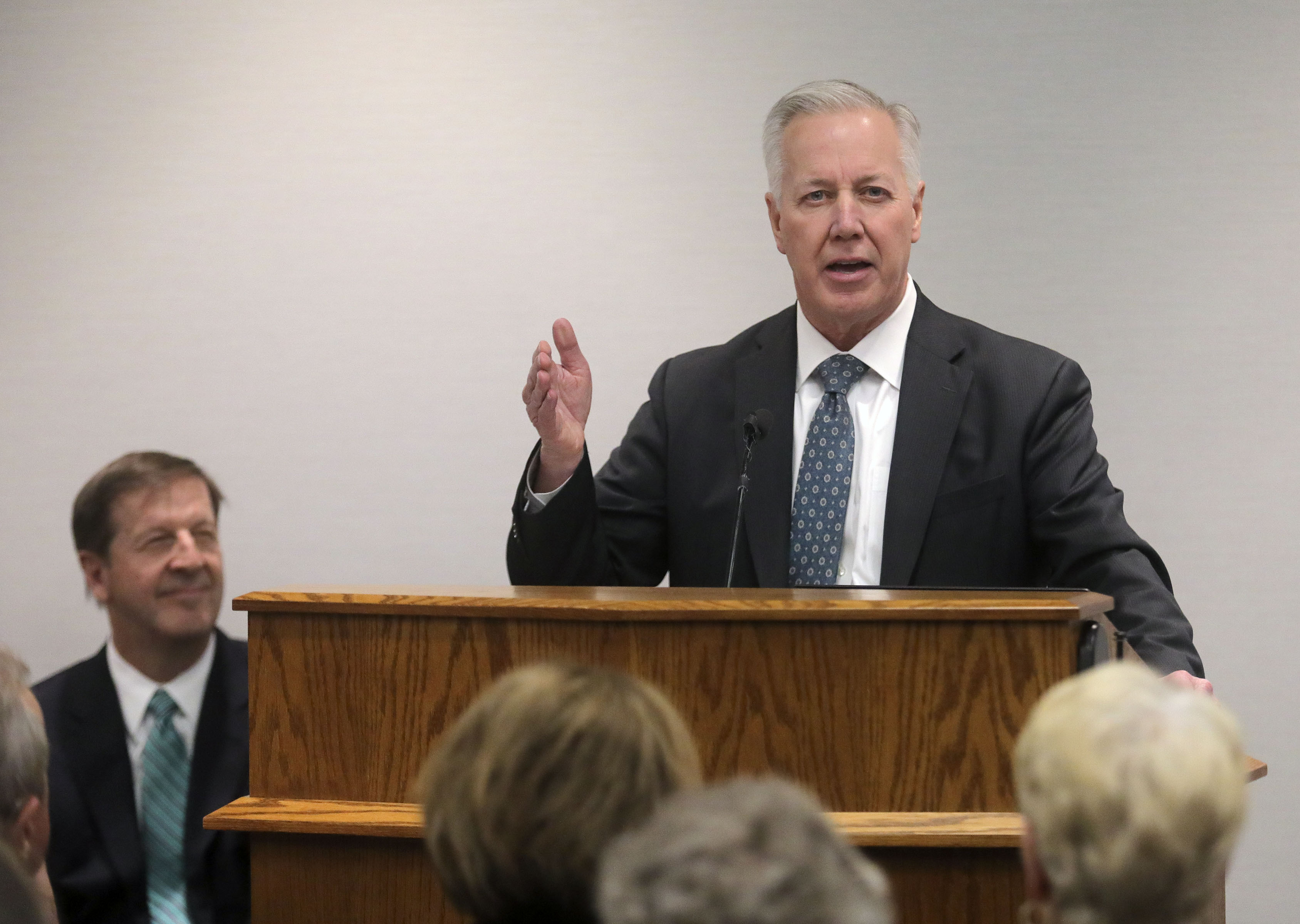 Elder Kevin S. Hamilton, executive director of the Family History Department and General Authority Seventy of The Church of Jesus Christ of Latter-day Saints, speaks during the FamilySearch 125th anniversary celebration at the Family History Library in Salt Lake City on Wednesday, Nov. 13, 2019.