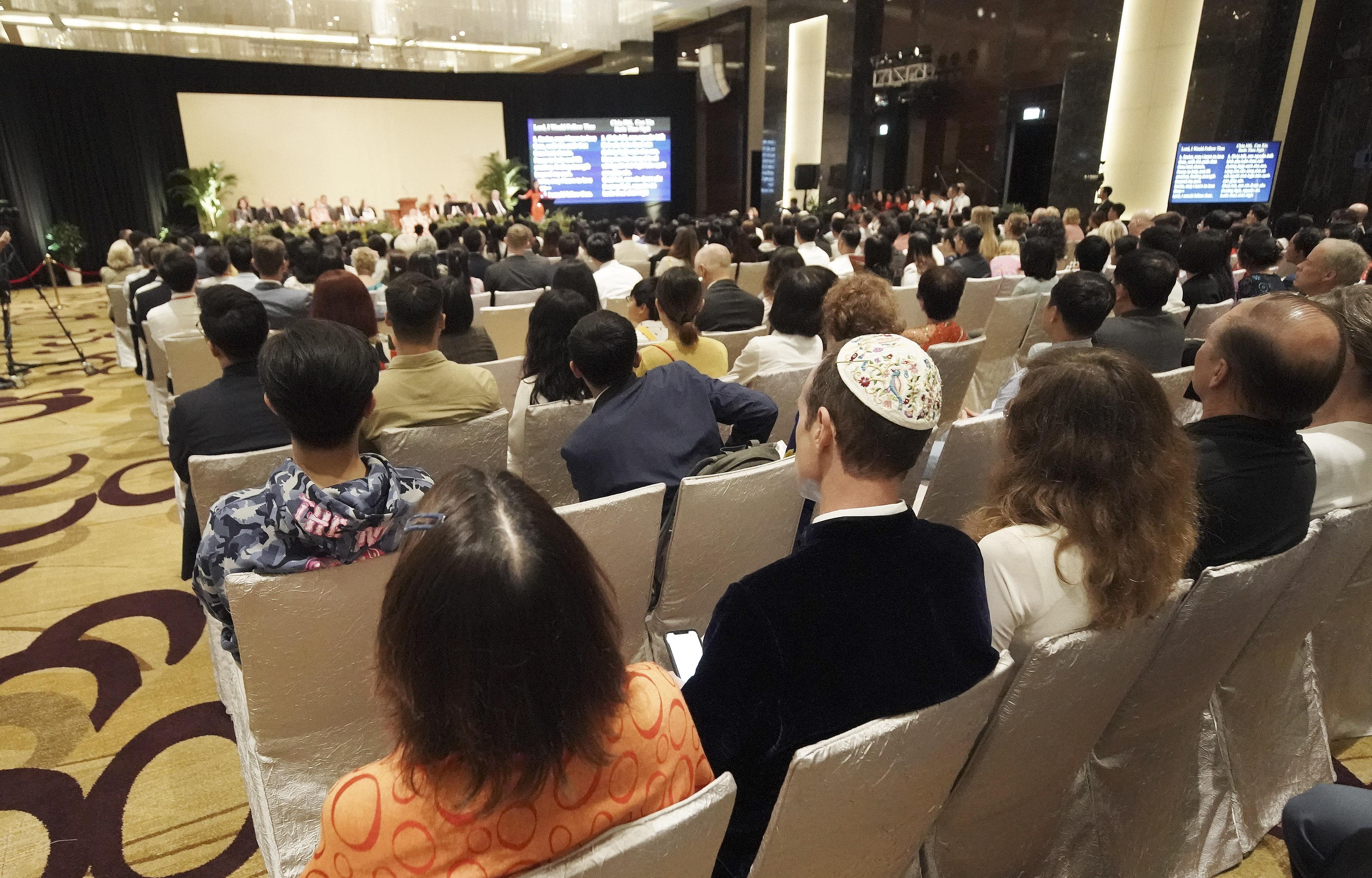 Attendees listen during a devotional in Hanoi, Vietnam, on Sunday, Nov. 17, 2019.