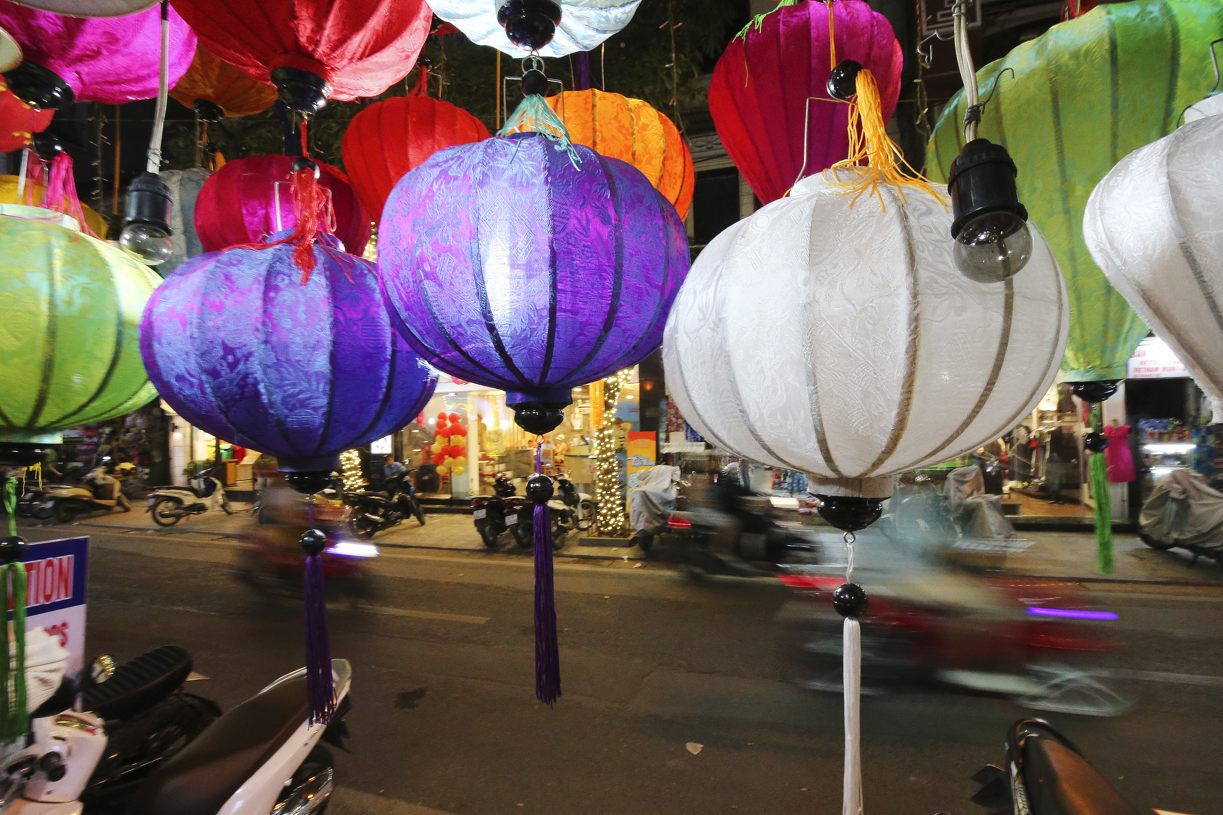 Motorists travel in Hanoi, Vietnam Apr 23, 2018.