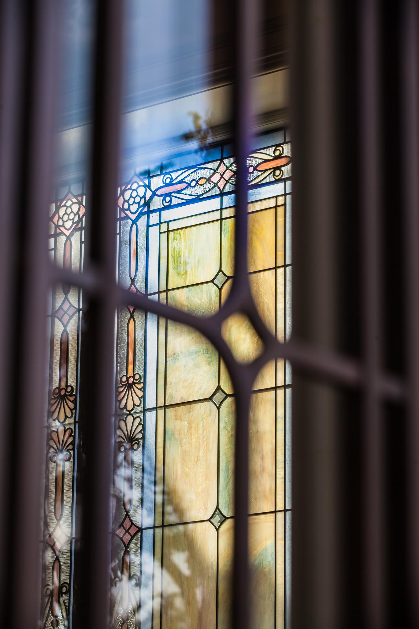 The glass art of the Baton Rouge Louisiana Temple with the sun shining through on Sunday, Nov. 17, 2019.