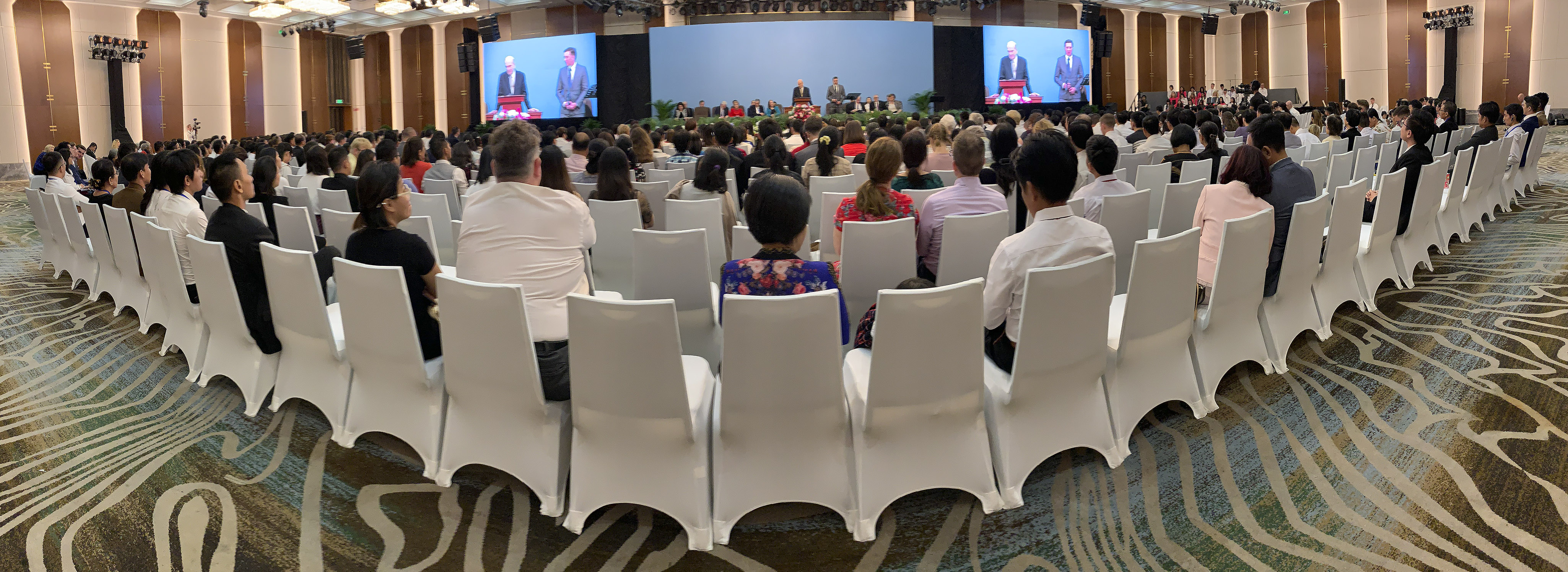 President Russell M. Nelson of The Church of Jesus Christ of Latter-day Saints speaks during a devotional in Ho Chi Minh City, Vietnam, on Nov. 18, 2019.