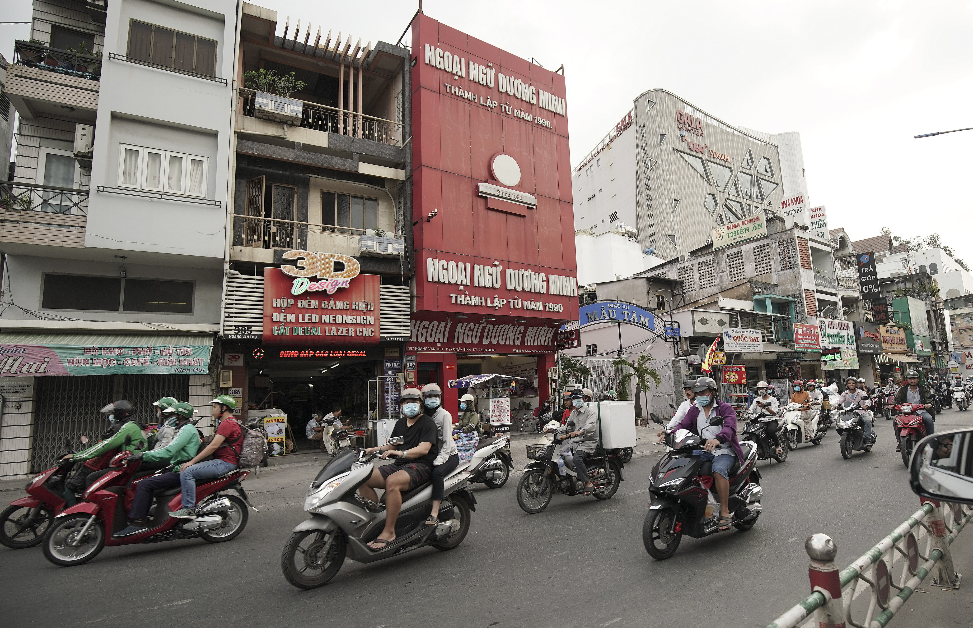 Motorists travel in Ho Chi Minh City, Vietnam, on Nov. 18, 2019. President Russell M. Nelson of The Church of Jesus Christ of Latter-day Saints spoke at a devotional in Ho Chi Minh City on Monday, Nov. 18, 2019.