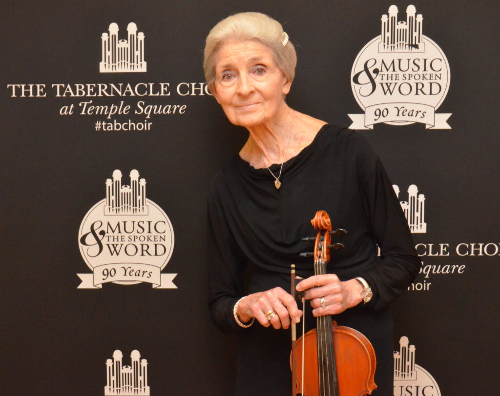 Orchestra at Temple Square musician Marilyn Anderson, 88, began playing the violin when she was 7. Her life has been devoted to family, music and missionary work.