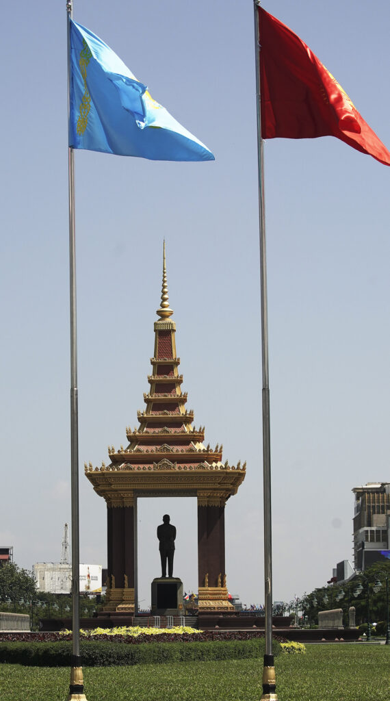 A monument in Phnom Penh, Cambodia, on Nov. 19, 2019.