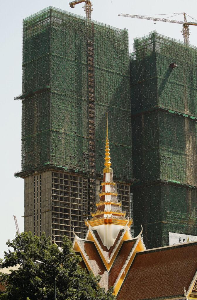 New construction near the Buddhist Institute in Phnom Penh, Cambodia, on Nov. 19, 2019.