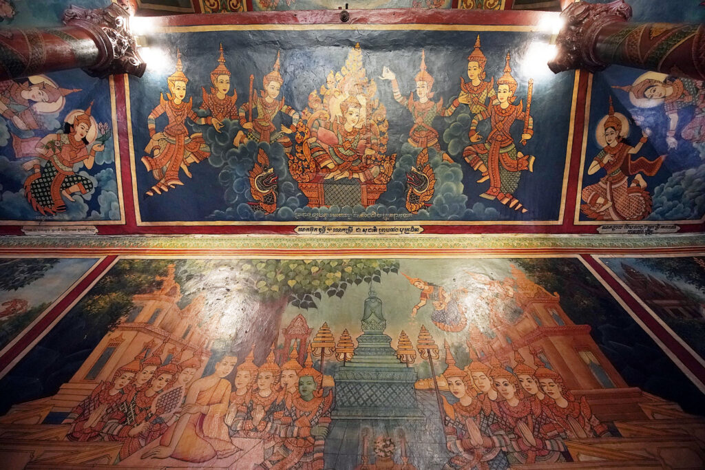 Murals in Wat Phnom, a Buddhist temple in Phnom Penh, Cambodia, on Tuesday, Nov. 19, 2019.