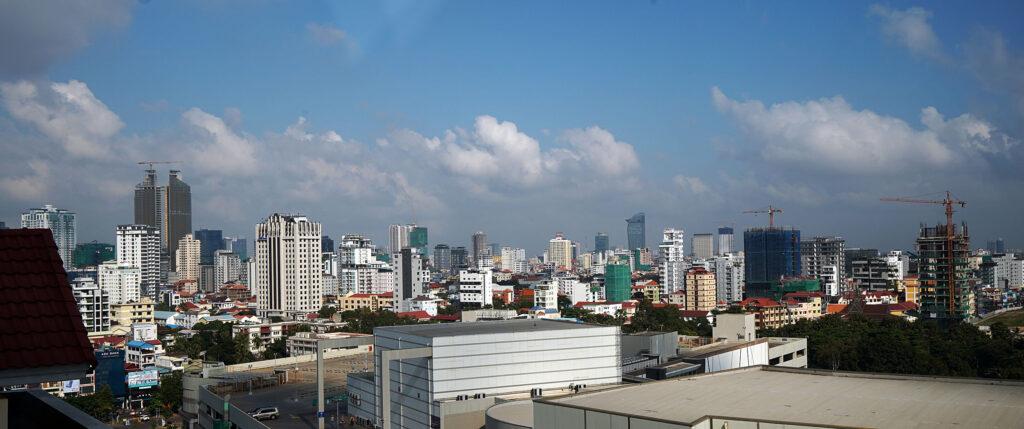 The Phnom Penh skyline in Cambodia on Tuesday, Nov. 19, 2019.