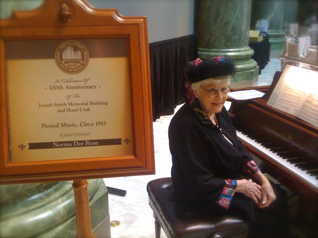 Norma Dee Ryan is pictured at the centennial celebration of the Joseph Smith Memorial Building in June 2011.