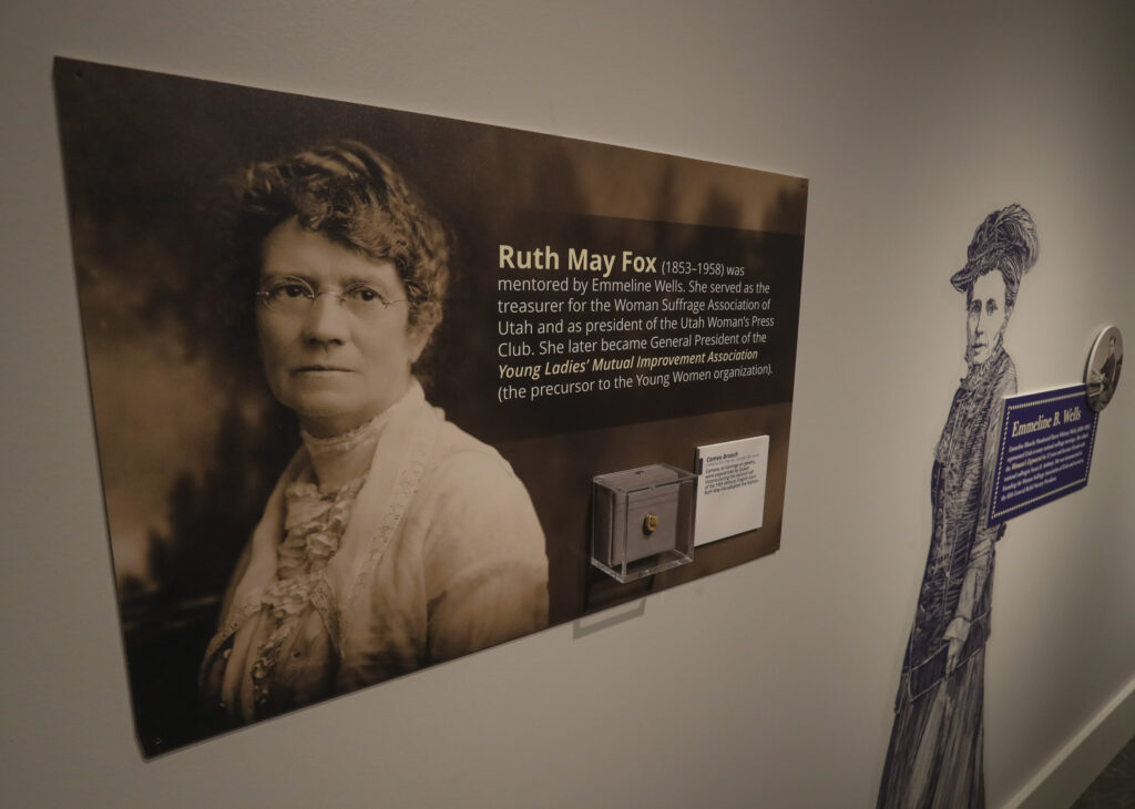 "This display is part of the Church History Museum's new exhibit ""Sisters for Suffrage: How Utah Women Won the Vote"" in Salt Lake City on Thursday, Nov. 21, 2019."