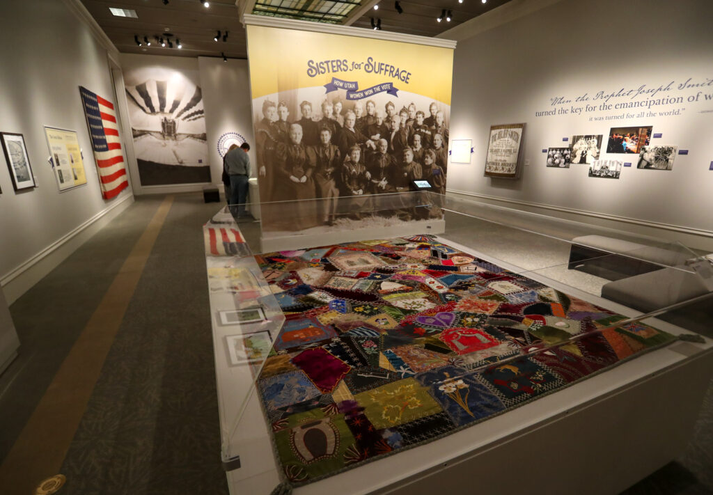 "The entrance to the Church History Museum's new exhibit ""Sisters for Suffrage: How Utah Women Won the Vote"" in Salt Lake City on Thursday, Nov. 21, 2019."
