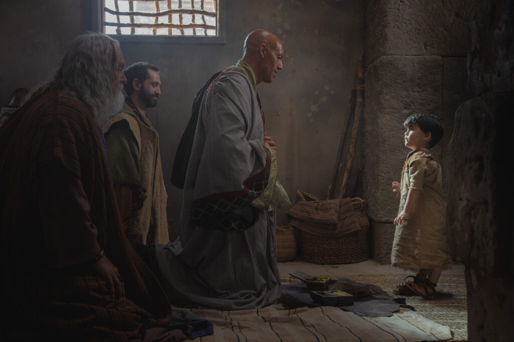 "A scene from ""The Christ Child"" video produced by The Church of Jesus Christ of Latter-day Saints shows the wisemen as they come before the child Jesus."