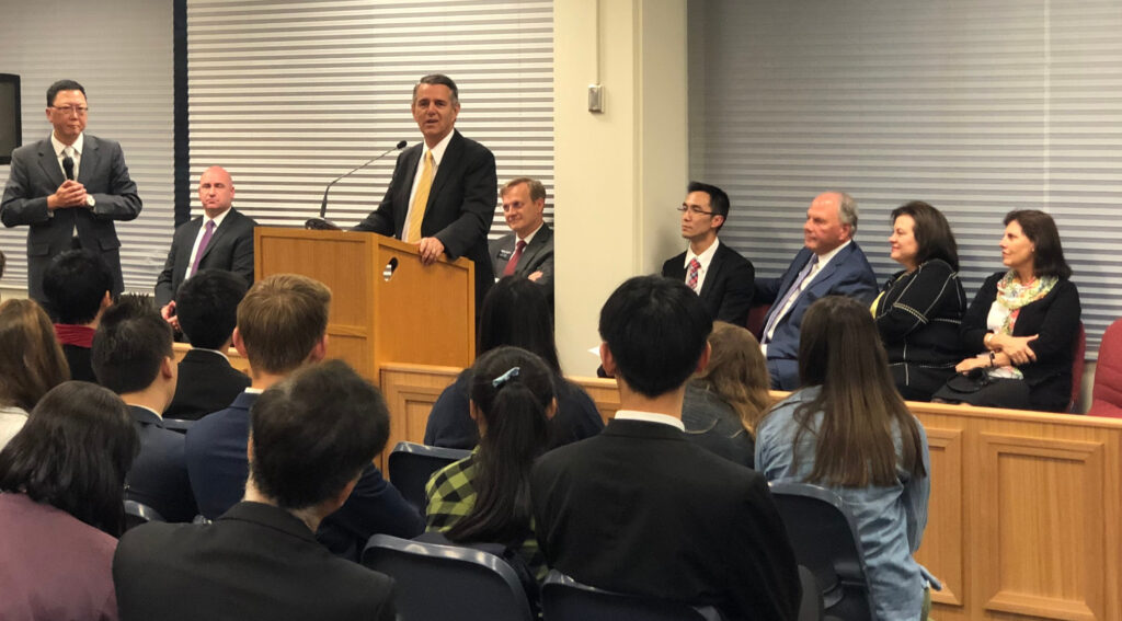 Elder Ian S. Ardern, a General Authority Seventy and president of the Pacific Area, speaks at a devotional with the Melbourne 1st (Mandarin) Branch on Nov. 18, 2019, in Melbourne,  Australia.