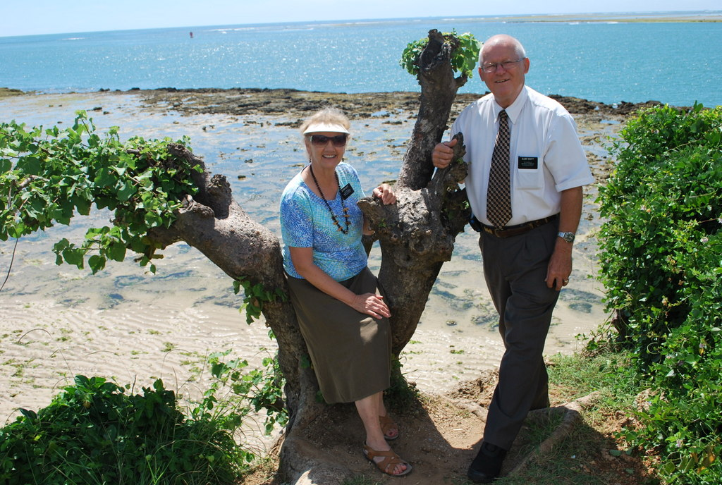 Sister Verlene Scott, a medical missionary, and her husband, Elder Clair Scott, pose for a photo while serving a senior mission in Kenya.