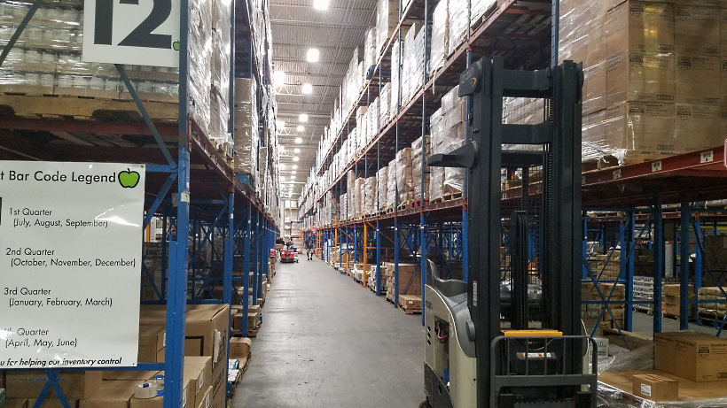 The warehouse of the Houston Food Bank in Houston, Texas.