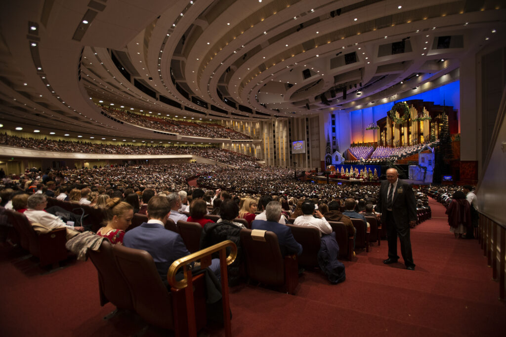 The First Presidency Christmas Devotional of The Church of Jesus Christ of Latter-day Saints at the Conference Center in Salt Lake City on Sunday, Dec. 8, 2019.