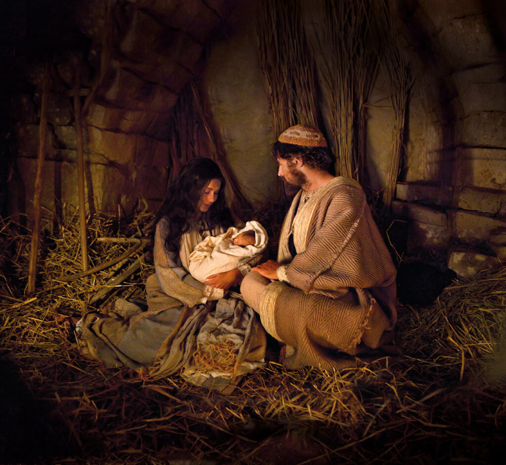 The Nativity in this scene from the Bible Videos. Credit: The Church of Jesus Christ of Latter-day Saints
