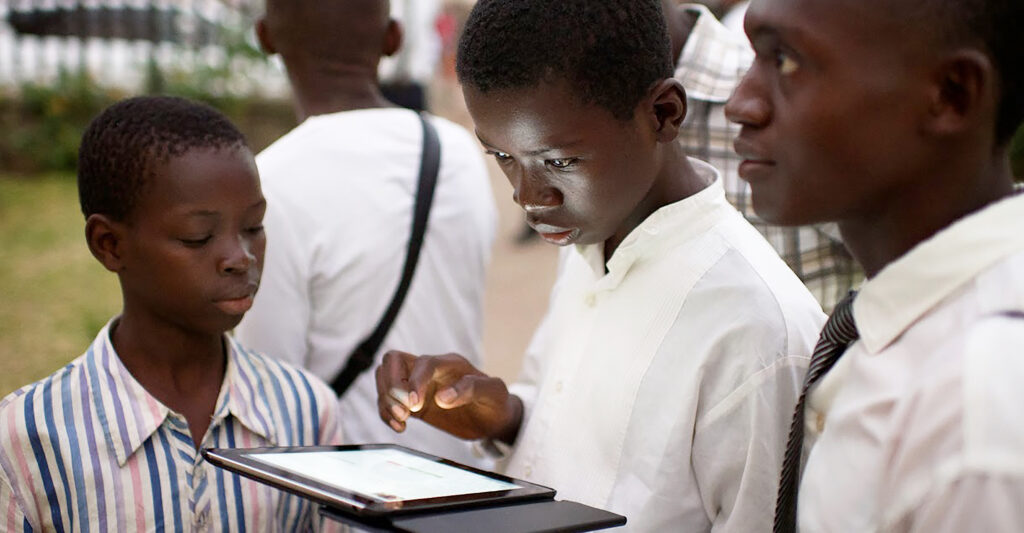 A young man studies using the Gospel Library app. Gospel Topics is a resource that helps members what the Church teaches about specific gospel principles, Church history events, and social or moral issues facing members today.