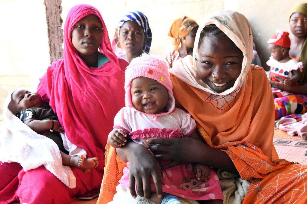 Mothers and children are waiting for their turn to be vaccinated at the health center of Ambatta, a suburb of Ndjamena, the capital of Chad. Immunization is free in Chad for children bellow 59 months, and is one of UNICEF's country office key results for children.