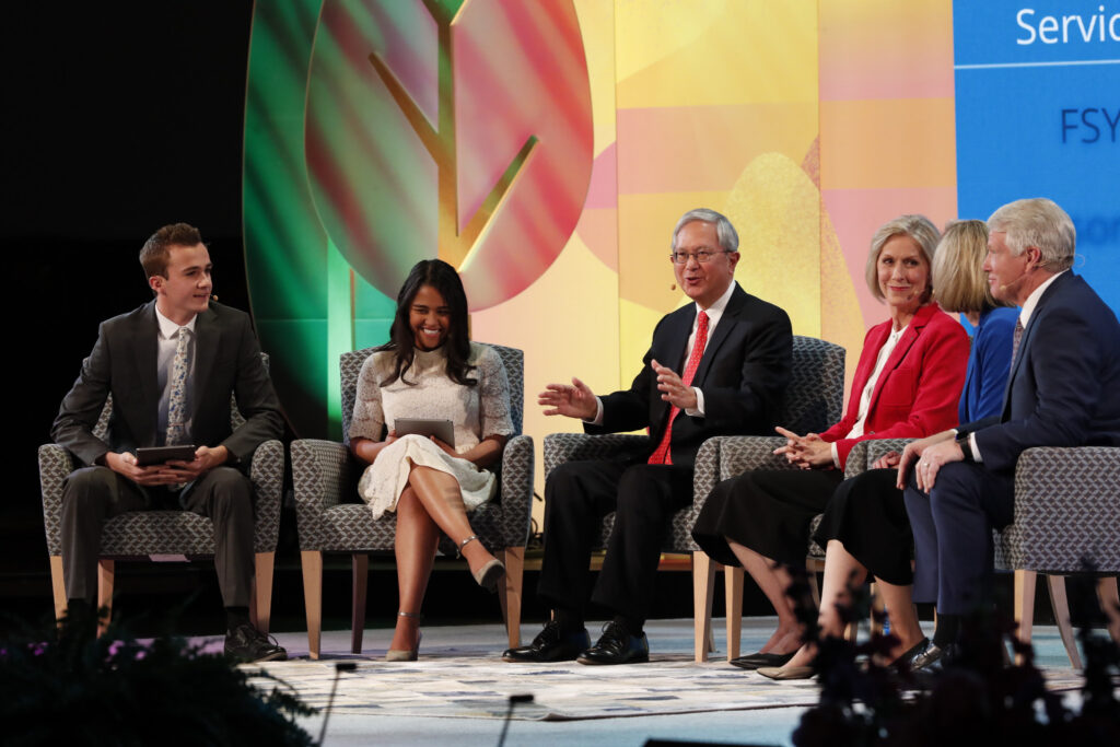 The Church of Jesus Christ of Latter-day Saints broadcast a live Face to Face event for children, youth, parents, and leaders on Nov. 17, 2019, from the Tabernacle in Salt Lake City, Utah. Church leadership introduced the church's new global children and youth program for youth between the ages of 7-18.