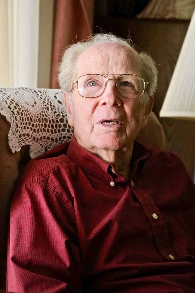 Elden Wood, 94, speaks about his service for the Church which included seven missions, six with his wife, Picola Wood.