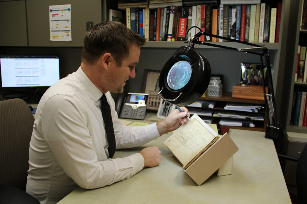 """Spencer McBride is the host of the new Joseph Smith Papers Project podcast,""""The First Vision: A Joseph Smith Papers Podcast,"""" which was released on Jan. 7, 2020."""