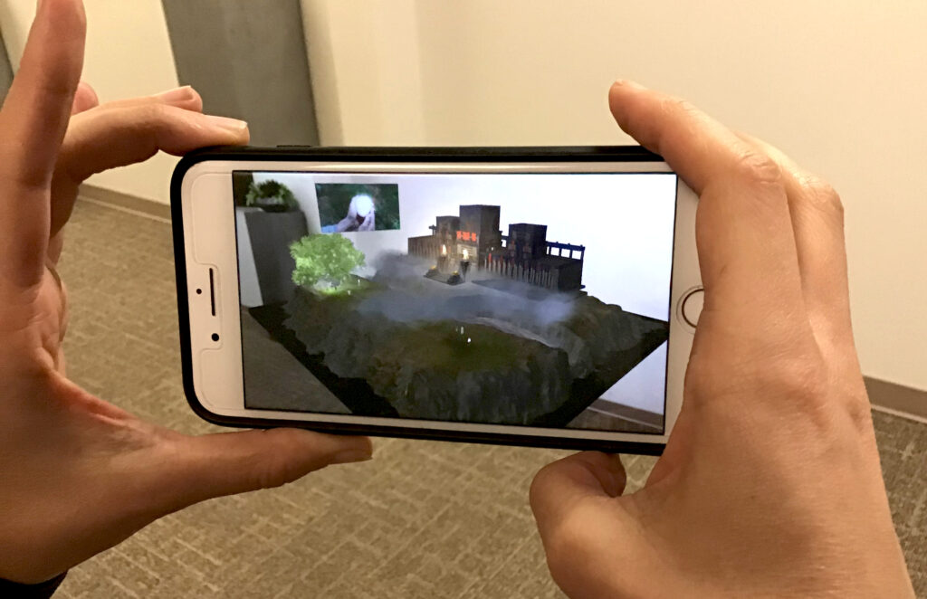 A new interactive mobile app from the Church uses augmented reality to help youth and children learn about Lehi's vision of the tree of life from the Book of Mormon.