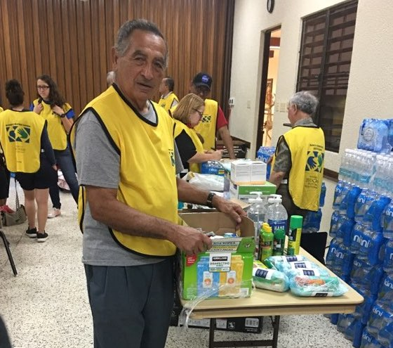 Pablo Rivera of Ponce, Puerto Rico, marked his 80th birthday on Jan. 15, 2020, by volunteering with a Helping Hands project to assist Puerto Ricans affected by a series of recent earthquakes.