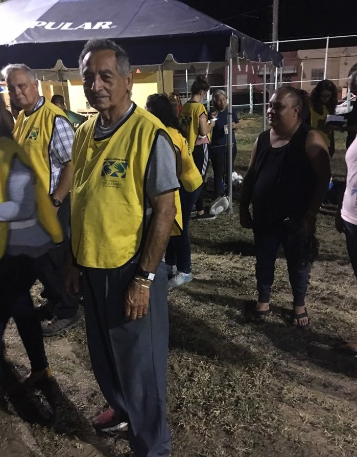 Ponce, Puerto Rico, native Pablo Rivera spent his 80th birthday on Jan. 15, 2020, performing volunteer work to bring relief to his friends and neighbors affected by ongoing earthquakes.