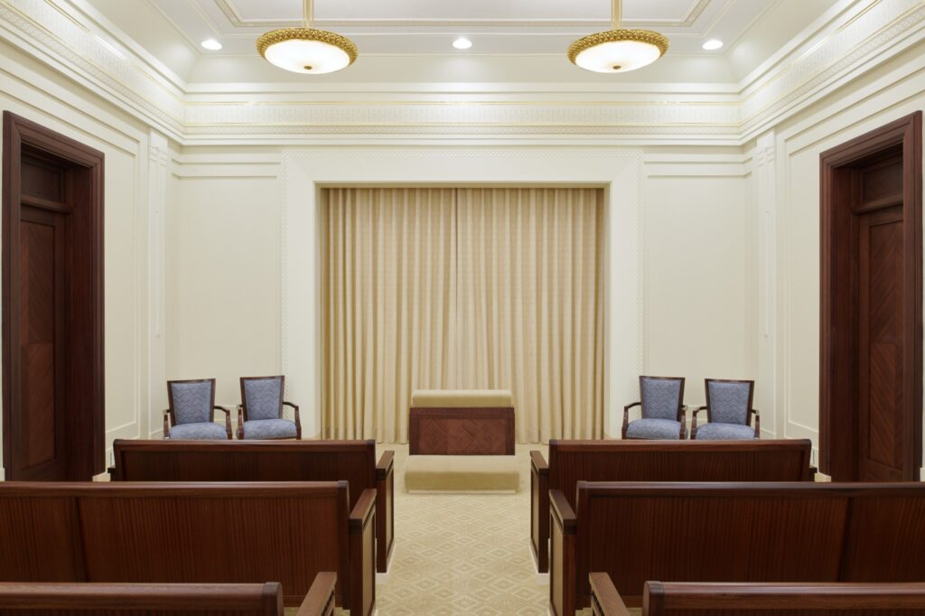An instruction room in the Durban South Africa Temple.