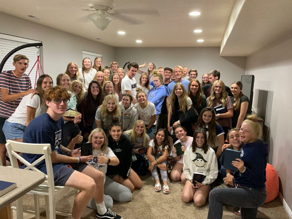 Students from Utah's Corner Canyon High School and other schools gather for weekly scripture study sessions led entirely by youth.