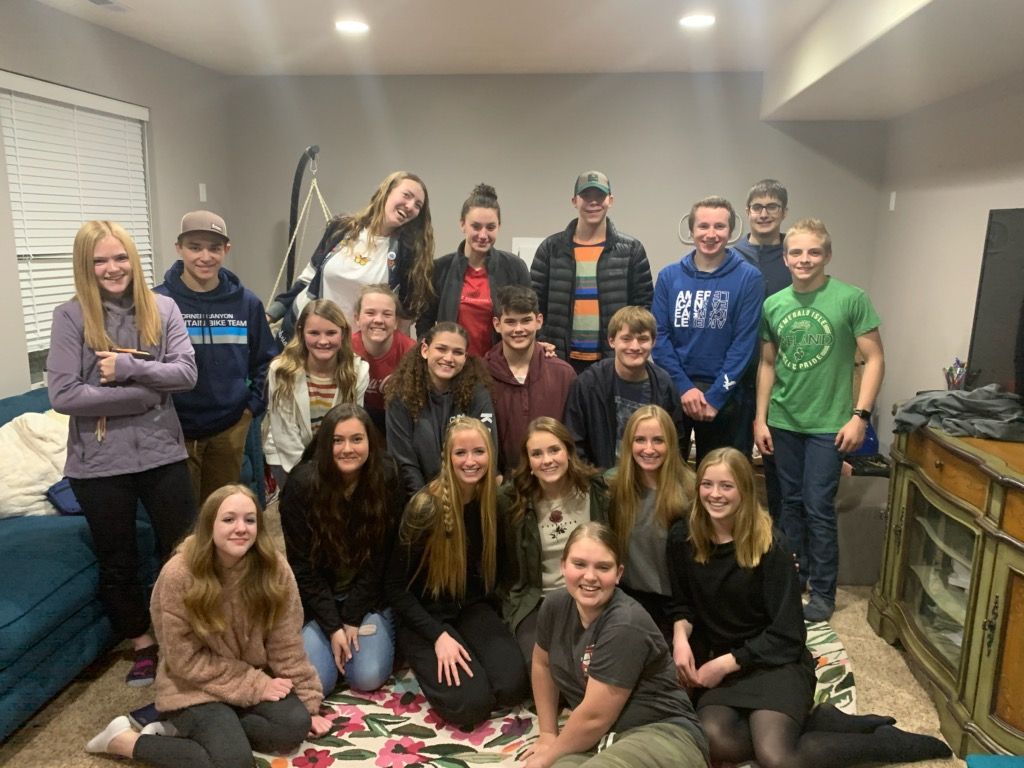 Youth meet at a Draper, Utah, home on Jan. 21, 2019, for a weekly, student-led scripture study session.