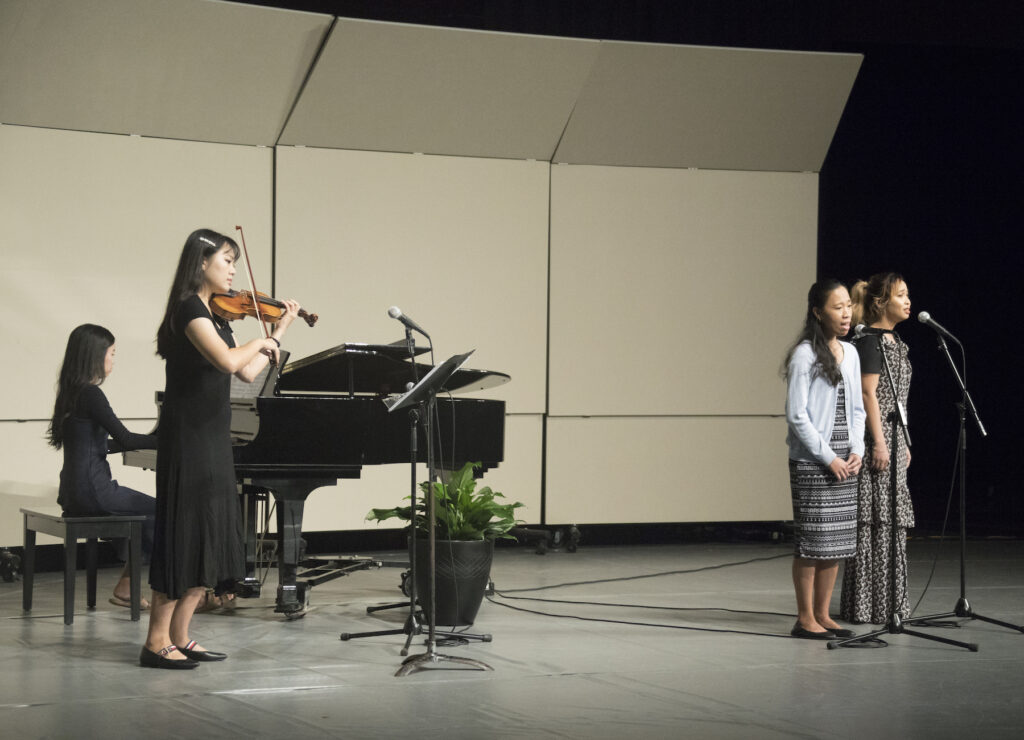 """BYU–Hawaii students perform """"Be Thou My Vision"""" during a devotional held on campus Jan. 21, 2020."""