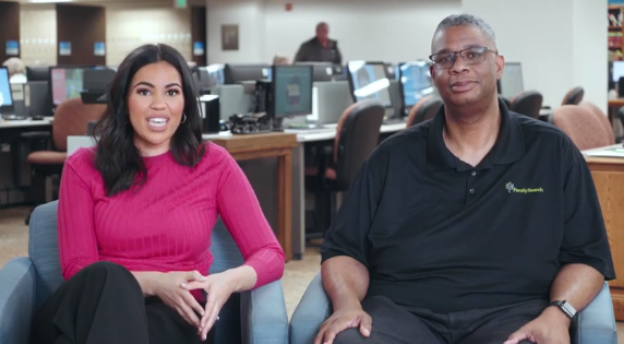 Kayla Jackson, marketing coordinator for the FamilySearch African heritage team, and Thom Reed, deputy chief genealogical officer for FamilySearch, talk about FamilySearch's campaign for Black History Month.