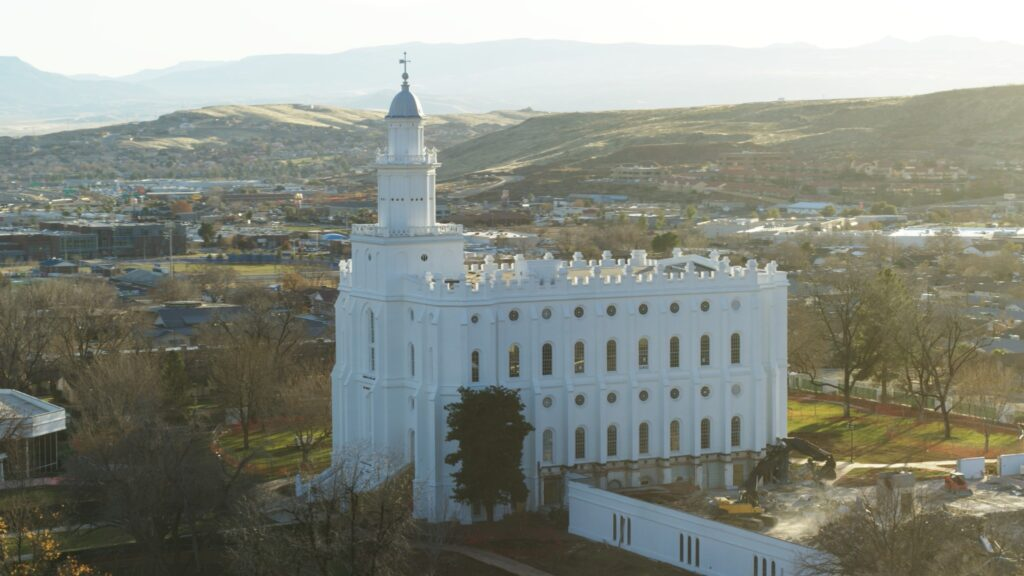 Renovation begins for the St. George Utah Temple, which will get a new north entrance, west addition and updated safety and energy-efficient systems once the project is completed in 2022.