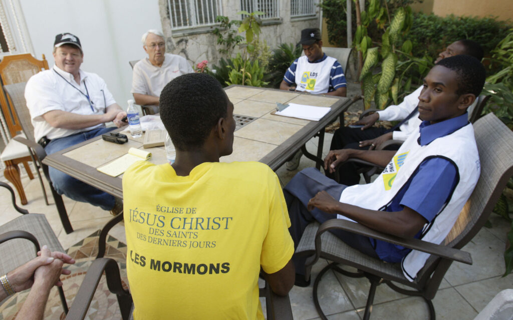 Local Church leaders meet to discuss relief efforts over the damage in Port-au-Prince, Haiti, on Jan. 22, 2010.
