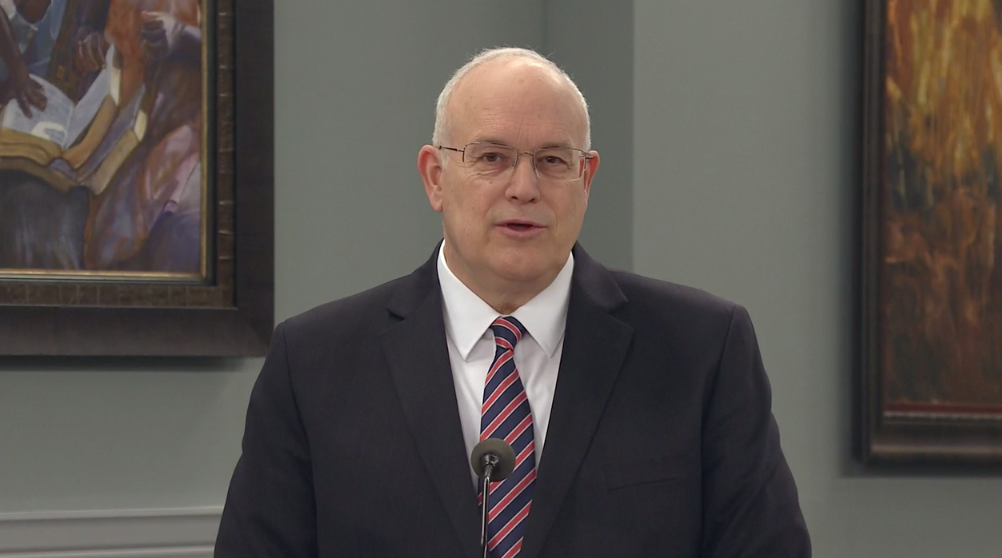 "Elder Paul V. Johnson, General Authority Seventy, speaks during the Church Educational System's annual ""Evening with a General Authority"" on Feb. 7, 2020."