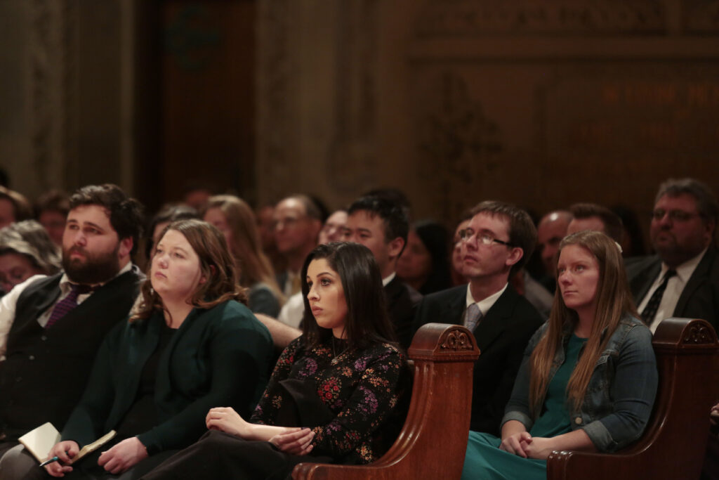 Elder Jeffrey R. Holland of the Quorum of the Twelve Apostles speaks during an event for young adults at the Stanford Memorial Church on the Stanford University campus in Stanford, California, on Sunday, Feb. 9, 2020.