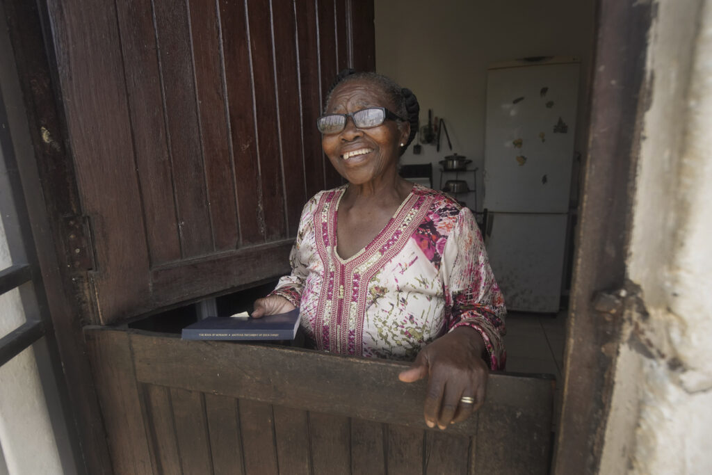 Nokuthula Gladys Gumede at her home in Umlazi, South Africa, on Feb. 14, 2020.