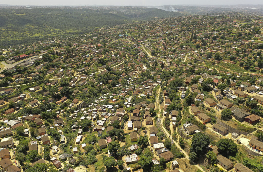 A view of housing in Umlazi, South Africa, on Feb. 14, 2020.