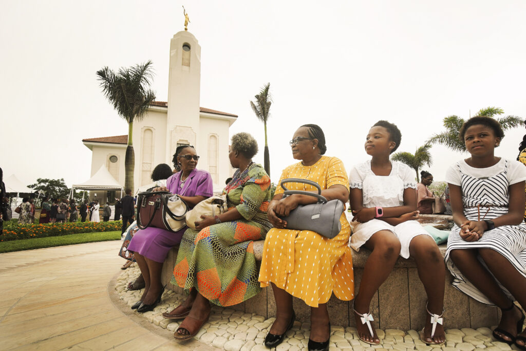 Attendees wait for the session during the Durban South Africa Temple dedication in Umhlanga, South Africa, on Sunday, Feb. 16, 2020.