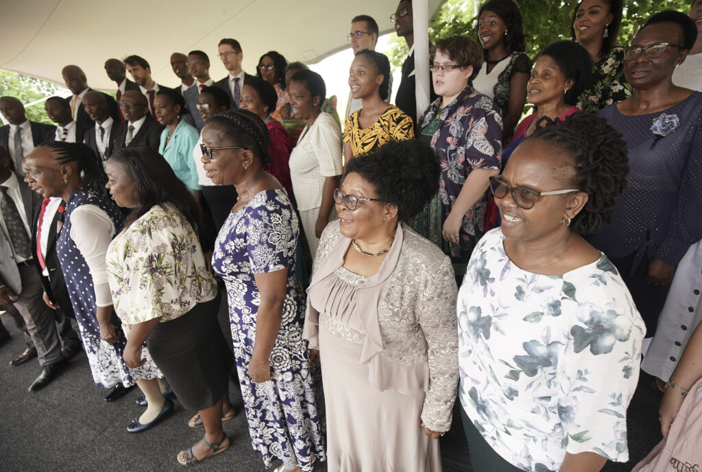 A choir sings during the cornerstone ceremony of theDurban South Africa Temple dedication in Umhlanga, South Africa, on Sunday, Feb. 16, 2020.