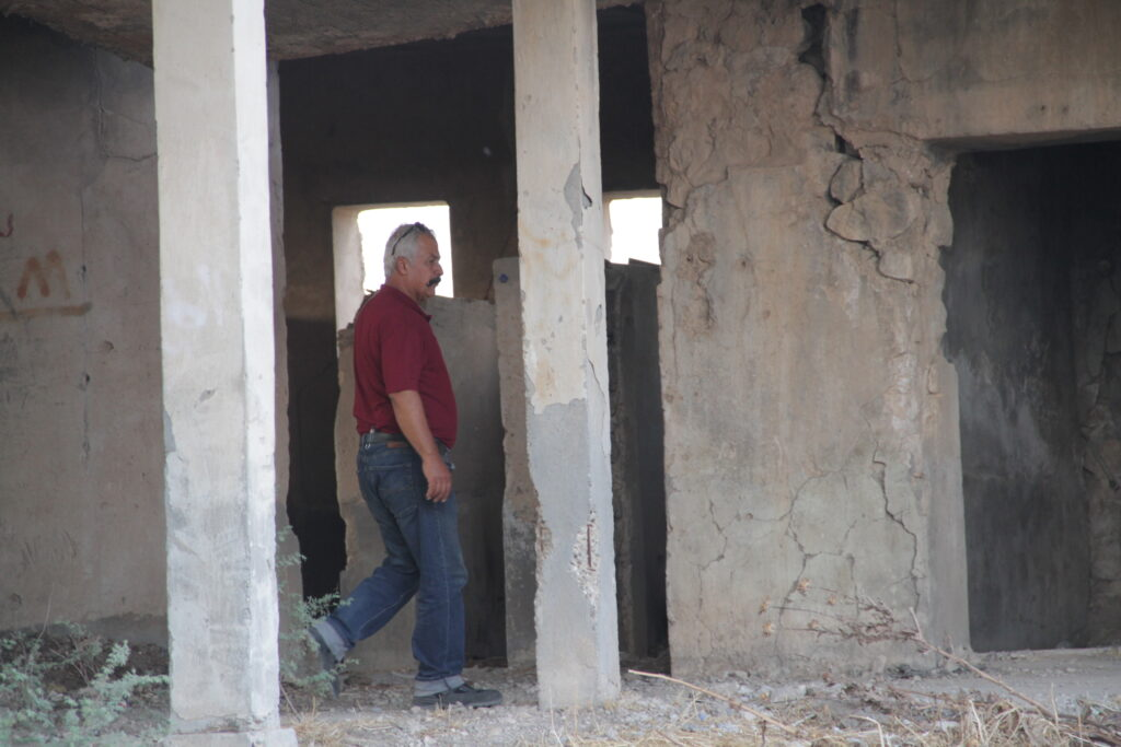 Mayor Murad Wartanian walks in former school in the village of Howesk, located just outside of Duhok in the Kurdistan region of northern Iraq. Latter-day Saint Charities is helping internally displaced people finding refuge in the village.