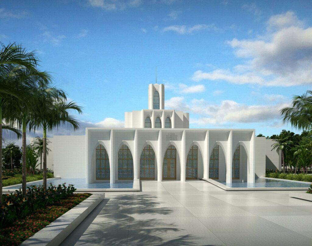 Rendering of the Brasilia Brazil Temple.