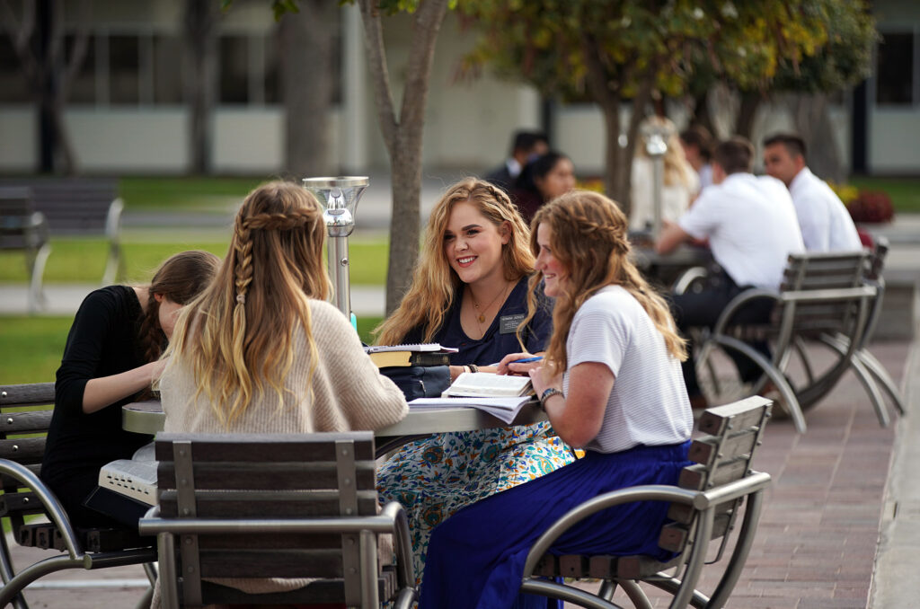 Sister Taylor Jackson of Las Vegas, New Mexico, studies with other missionaries at the Mexico Missionary Training Center of The Church of Jesus Christ of Latter-day Saints on Friday, Jan. 24, 2020.