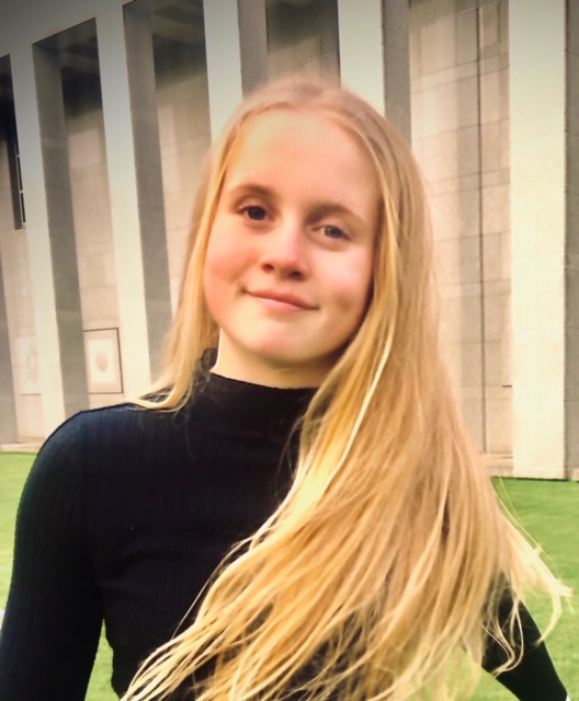 Latter-day Saint youth Grace Scott, 12, from the Chorley England Stake.