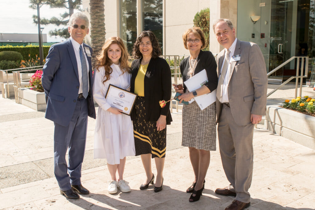 Sister Reyna Isabel Aburto, middle, stands with participants of the fourth annual International Women-in-Diplomacy Day, which was held at the Los Angeles California Temple Visitors' Center on Monday, March 9, 2020.