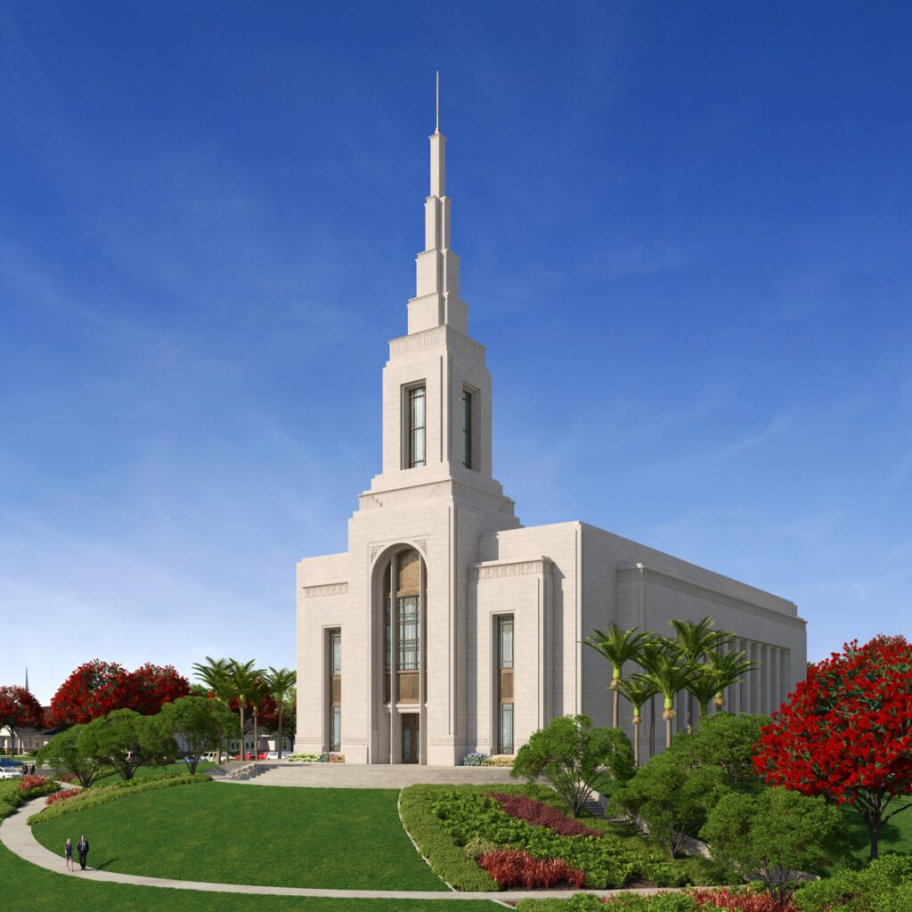 A rendering of the Auckland New Zealand Temple.